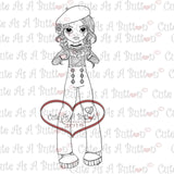 Cute As A Button Stamps Mime Digistamp