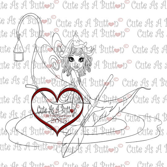 Cute As A Button Designs IMG00178 Liliana Fairy Digital Digi stamp