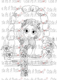 IMG00191 Let Down Your Hair Digital Digi Stamp