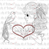 RS00004 Birds of A Feather Clear Cling Rubber Stamp