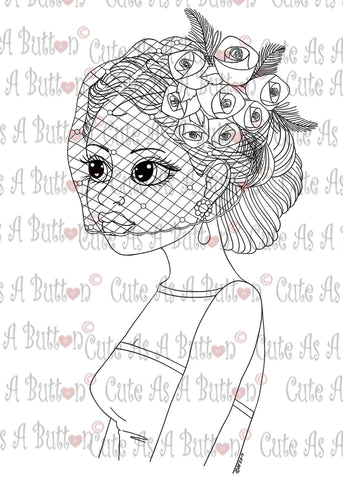 Cute As A Button Stamps Big-Eyed Digi Stamp IMG00298 Bridal Veil Digi Stamp