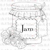 Cute As A Button Digistamps IMG00319 Strawberry Preserves Digi Stamp