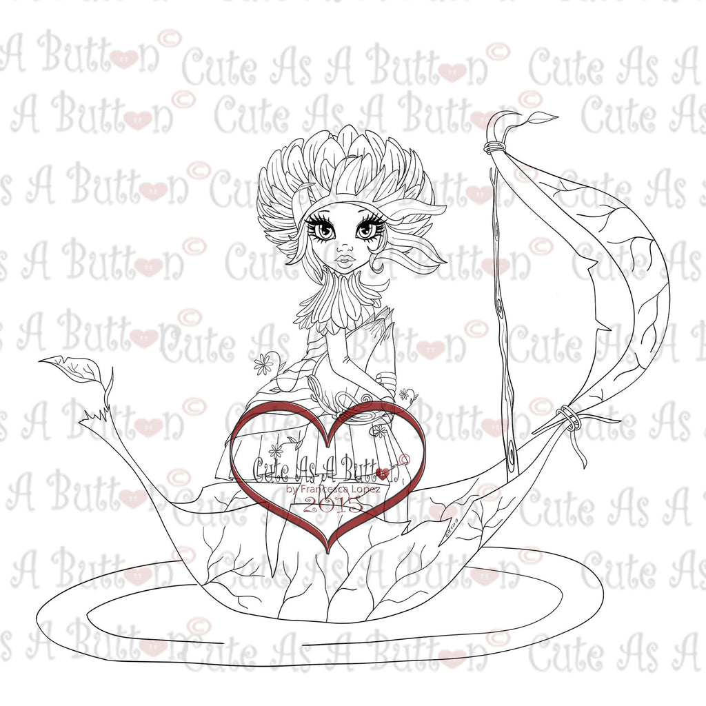 Cute As A Button Digistamp IMG00325 Fairy Ride Digi Stamp