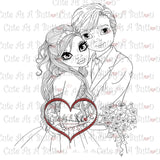 Cute As A Button Digital Stamps IMG00329 Our Wedding Day Digital Stamp