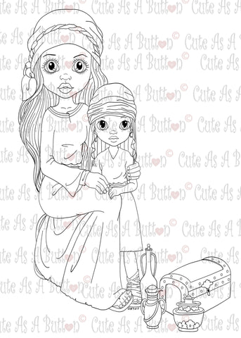 IMG00346 Gifts For King Jesus - Bible Journaling Bookmark Digital Digi Stamp