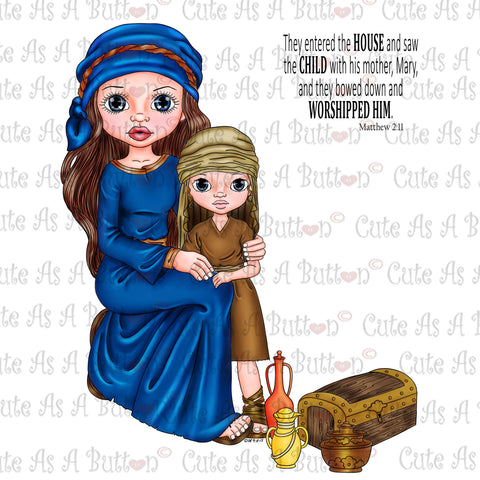 Cute As A Button Designs IMG00346 Pre-Colored Gifts for King Jesus Digital Digi Stamp