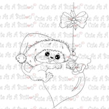 Cute As A Button Digistamps IMG00348 Kitty Ornament Digital Digi Stamp