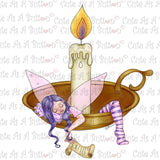 Cute As A Button Digistamps IMG00351 Pre-Colored Sleeping Fairy Digital Stamp