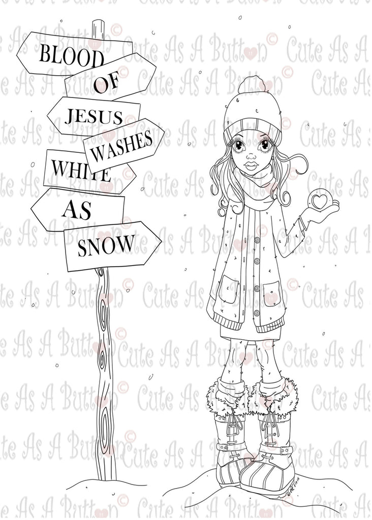 Cute As A Button Digistamps IMG00367 Jesus Is The Only Way Digital Digi Stamp