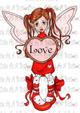 Cute As A Button IMG00373 Pre-Colored LOVE Fairy Digital Digi Stamp
