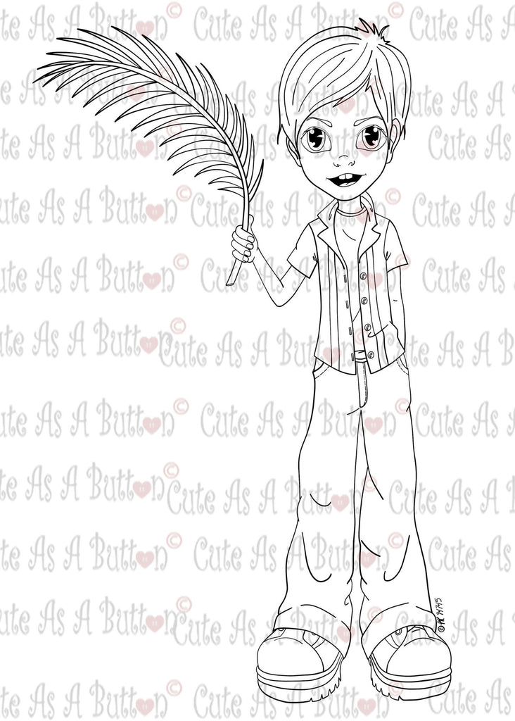 IMG00388 Hosanna Joshua - Bible Journaling Bookmark Digital Digi Stamp