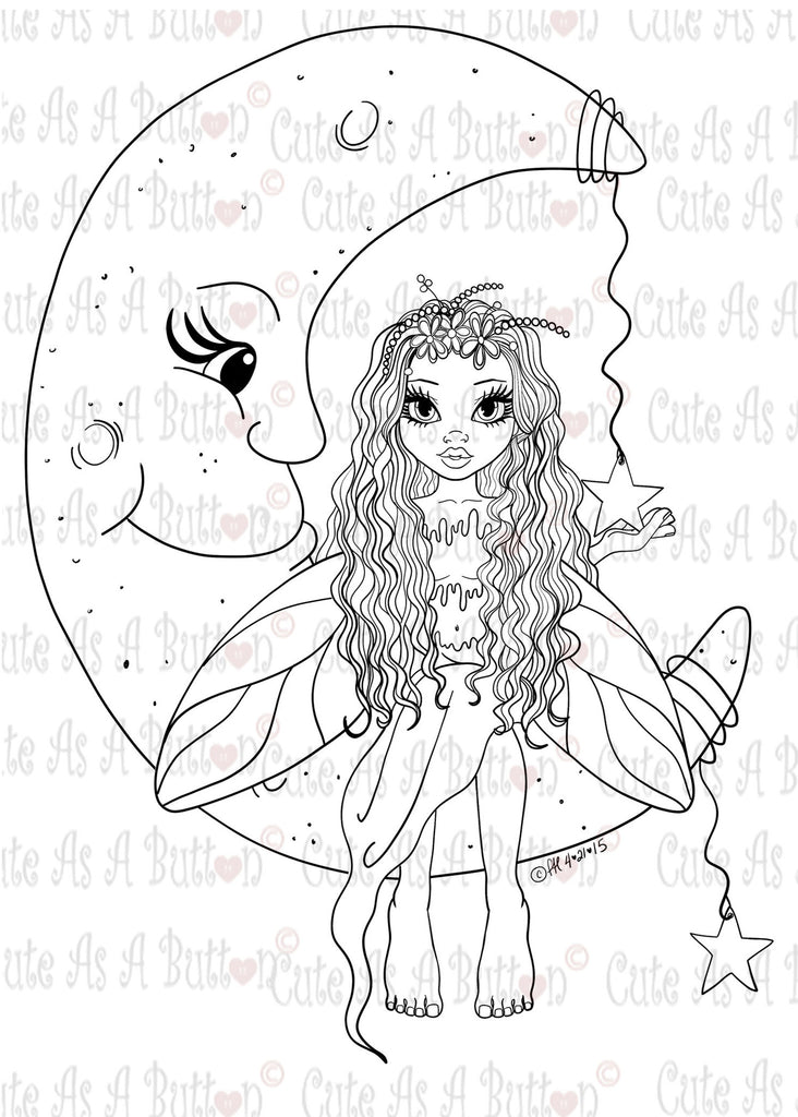 IMG00395 Moon Fairy Digital Digi Stamp