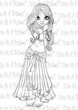IMG00411 Amirayah Belly Dancer Digital Digi Stamp