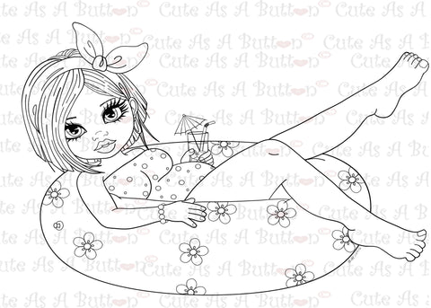 Cute As A Button Designs IMG00412- Cuddly Busty Buttons - Summertime Digital Digi Stamp