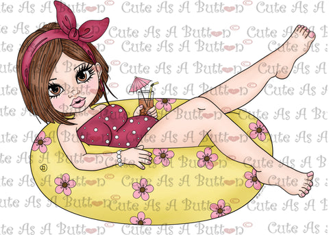 Cute As A Button Designs IMG00412- Cuddly Busty Besty - Summertime-Pre-Colored Digital Download