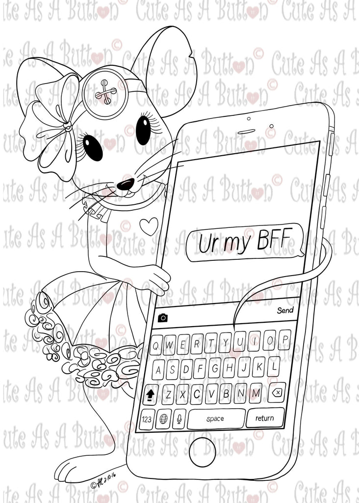 Cute As A Button Designs IMG00419 Ur My BFF Digital Digi Stamp