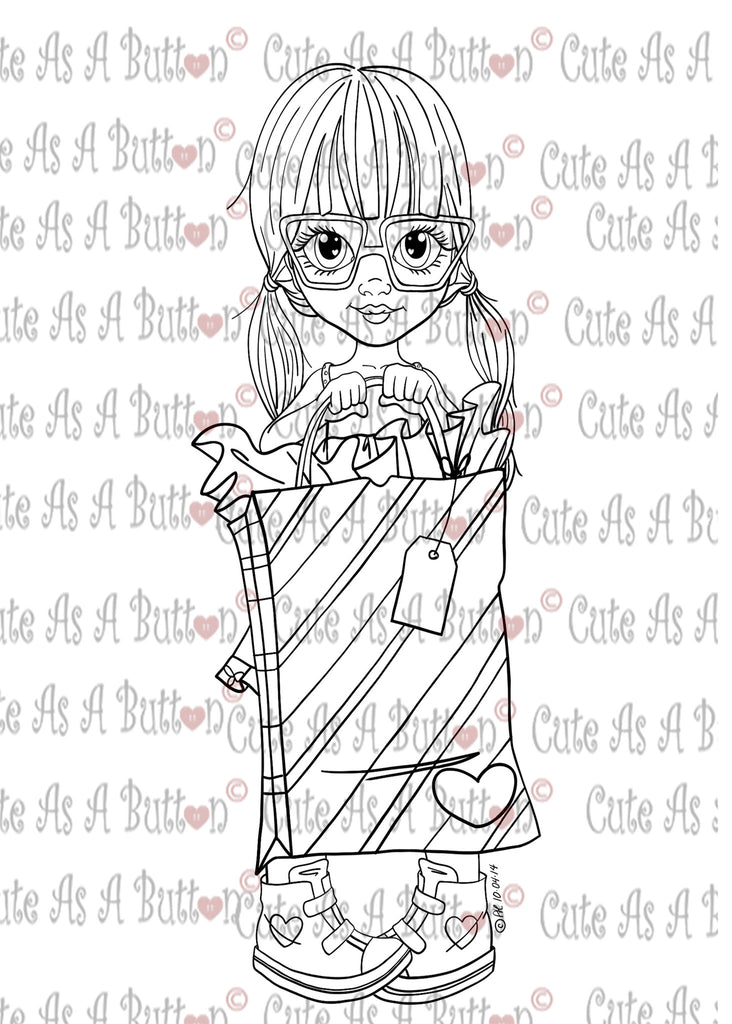 Cute As A Button Designs IMG00424 For You Digital Digi Stamp