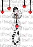 Cute As A Button Designs IMG00430 Pierrot Clown Digital Digi Stamp