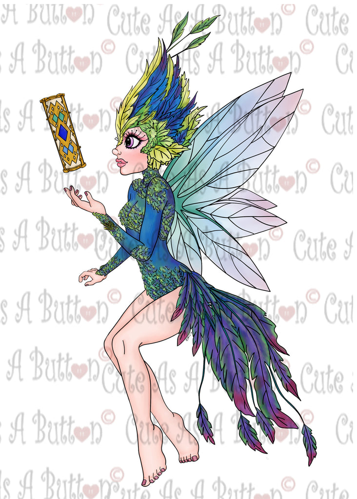 Cute As A Button Designs IMG00432-Tooth-Fairy-Pre-Colored Digital Download