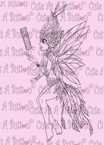 Cute As A Button Designs IMG00432 Tooth Fairy Digital Digi Stamp