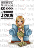IMG00436 A Bit Of Coffee A Whole Lot Of Jesus - Bible Journaling Digital Digi Stamp