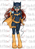 Cute As A Button Designs IMG00437 Batgirl Digital Digi Stamp