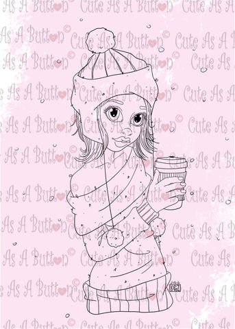 Cute As A Button Designs IMG00470 Winter Mocha Latte Digital Digi Stamp
