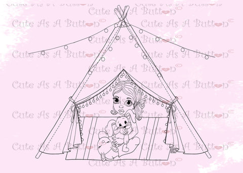 Cute As A Button Designs IMG00473 Teepee Digital Digi Stamp