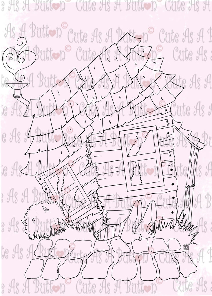Cute As A Button Designs IMG00481 Oz House On Witch Digital Digi Stamp