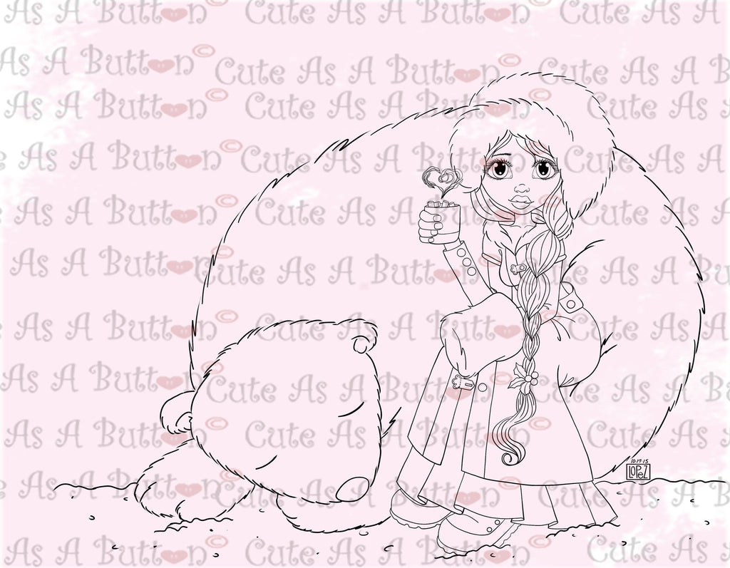 Cute As A Button Designs IMG00485 Polar Nap Digital Digi Stamp