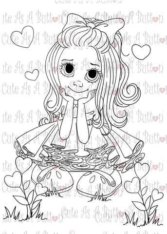 Cute As A Button Designs IMG00408 Love Is In the Air Digital Digi Stamp