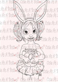 Cute As A Button Designs IMG00514 Bunny Ears Pool Party Digital Digi Stamp