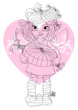 Cute As A Button Designs IMG00539 Peppermint Fairy Digital Digi Stamp