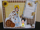 Cute As A Button Digistamps IMG00321 Milk and Cookies Digital Digi Stamp
