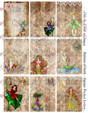 Cute As A Button Designs PL0008 Fairies Pocket Pal Letter Instant Download