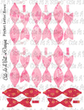 PL00006 Heart Bow Pocket Pen Pal Letter KIT Instant Download