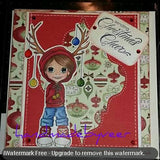 IMG00086 Reindeer Ears Costume Digital Digi Stamp