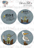 Cute As A Button Designs TL00016 Fishers Of Men Tea Light Toppers