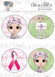 Cute As A Button Designs TL00096 Find A Cure Tea Light Toppers