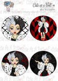 Cute As A Button Stamps TL00323 Cruella Tea Light Toppers