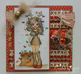 RS00007 Tangled Lights Clear Cling Rubber Stamp