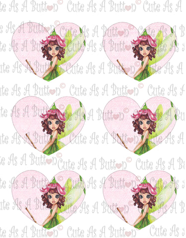 Cute As A Button Designs VH00001- Colored Printable Valentine Hearts LILIANA FAIRY