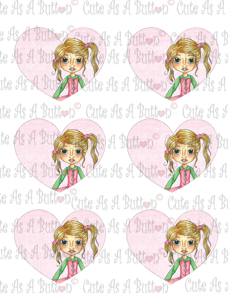 Cute As A Button Designs VH00003 Colored Printable Valentine Hearts GROW IN THE LORD