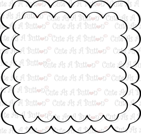 Cute As A Button Designs SVG00008 Scalloped Frame SVG