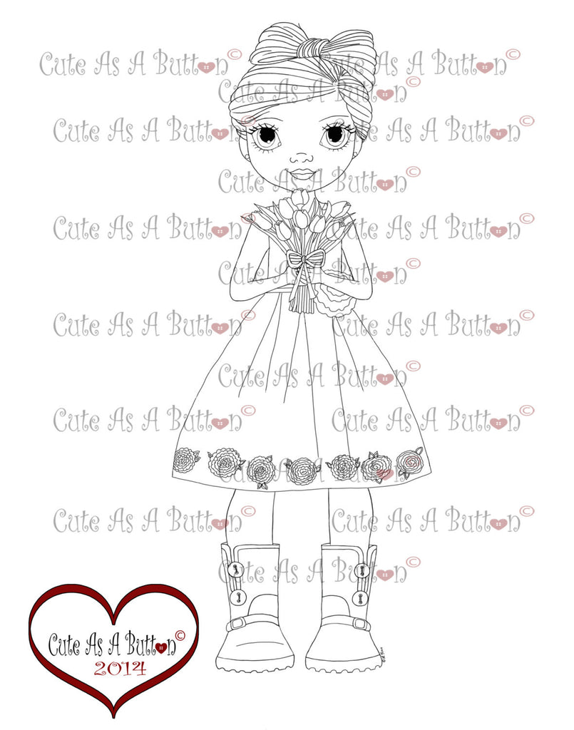 Cute As A Button Stamps Picture Perfect Digistamp