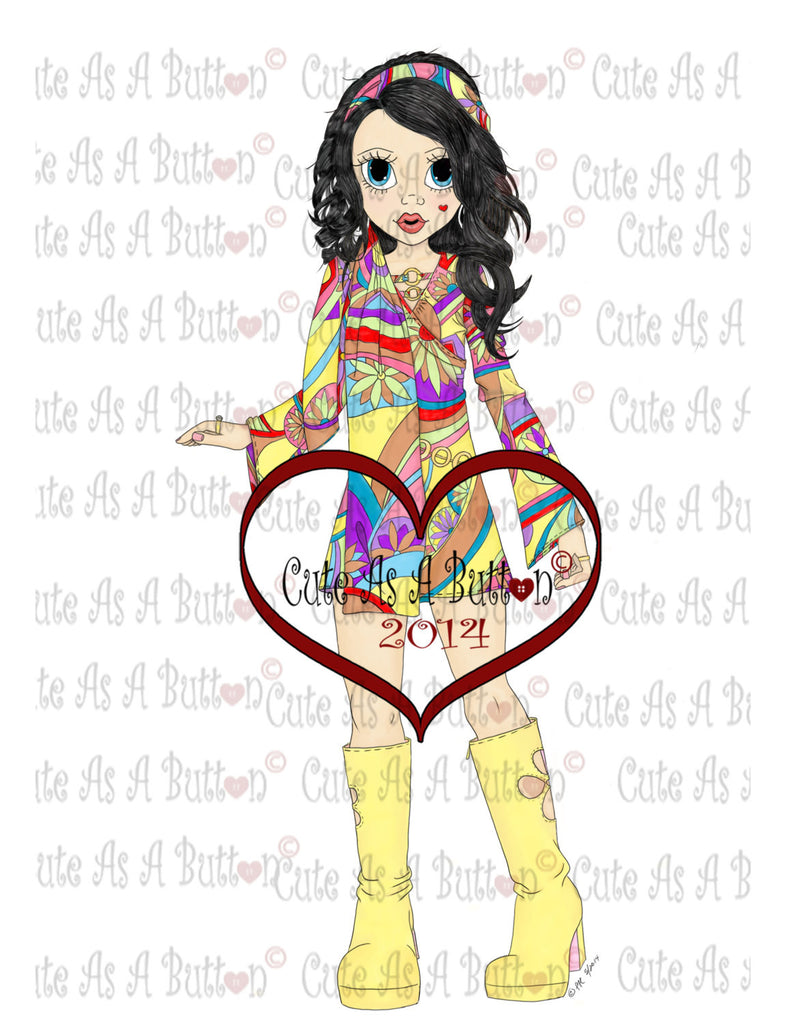 IMG00048PC Groovy Girl Pre-Colored  Digistamp