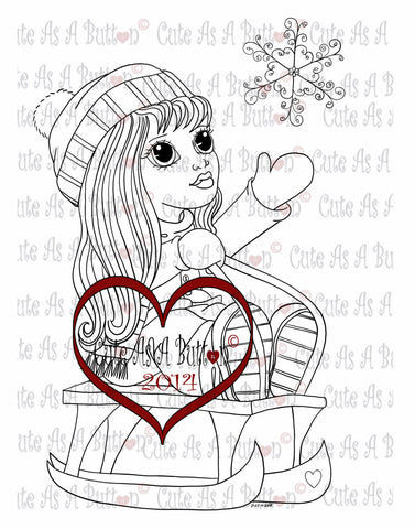 Cute As A Button Digistamp Sleigh Ride