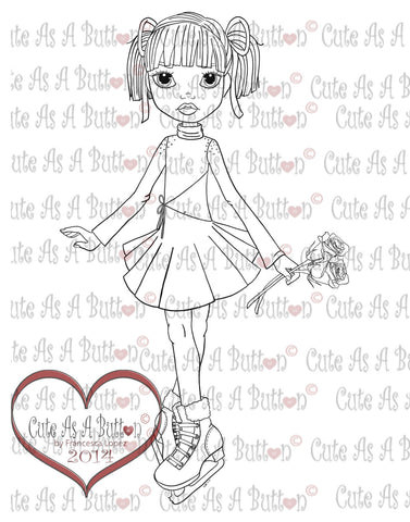 Cute As A Button Digistamps Lexi-Ice Castles Digi Stamp