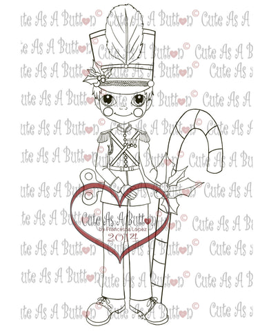 Cute As A Button Stamps Christmas Soldier Digistamp