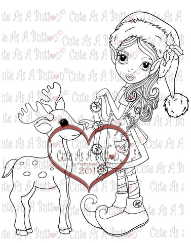 IMG00100 Reindeer Bells Digital Digi Stamp